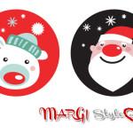 Disegni di Natale per bambini con trattini