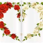 Biglietto cuore con rose