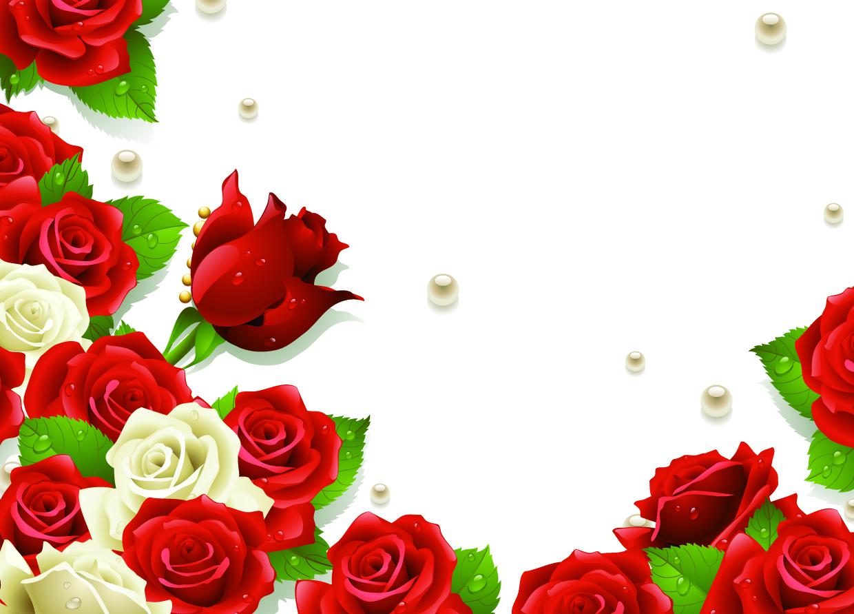 Biglietto con cornice di rose for Cornici semplici per foto