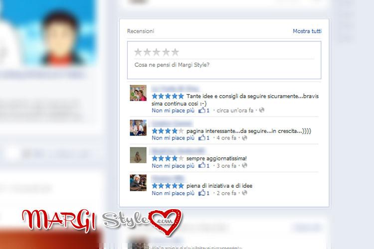 Inserire le recensioni su Facebook