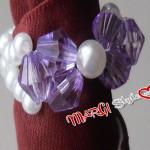 Anello con fiocco di perle