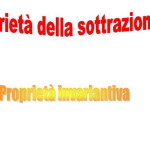 Definizione e proprietà della sottrazione