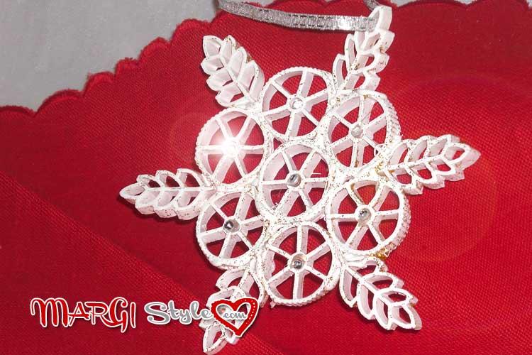 Decorazioni natalizie fiocco di neve con la pasta secca - Decorazioni natalizie fatte a mano per bambini ...