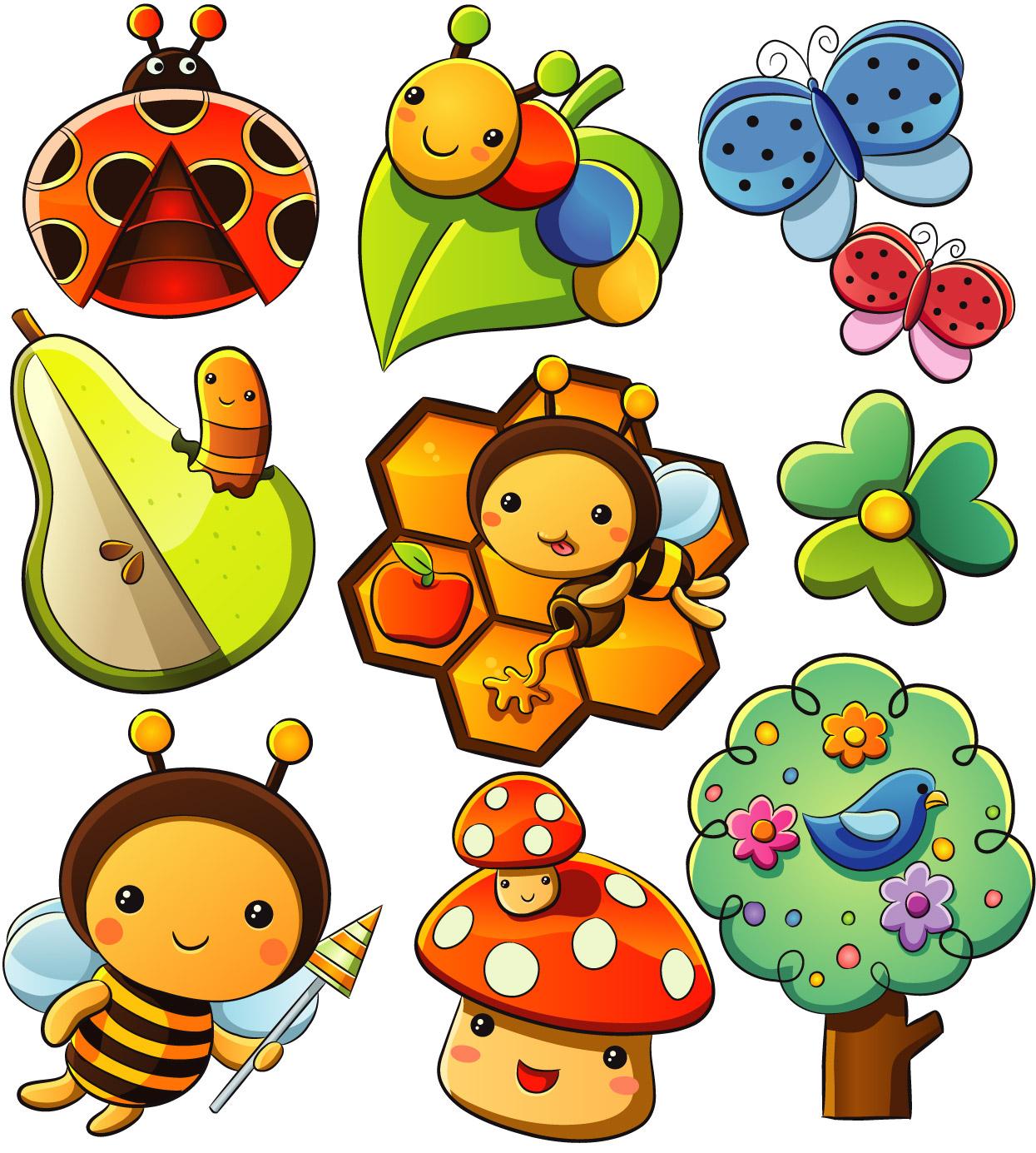 Disegni con puntini per bambini coccinelle bruchi for Immagini farfalle da ritagliare