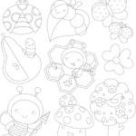 Simpatici disegni con puntini per bambini