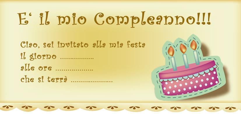 Top Simpatico biglietti invito di compleanno decorato con torta FJ74