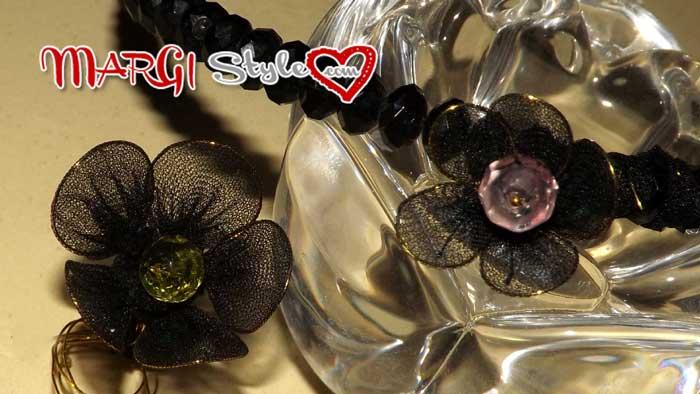 fiori con calze di nylon