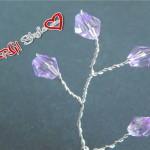 Accessori fai da te:steli e rami con biconi e perle