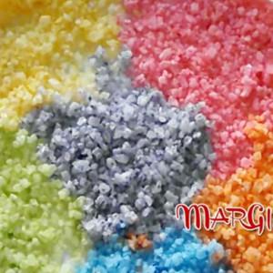 colorare il sale grosso
