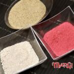 Due modi per colorare la sabbia