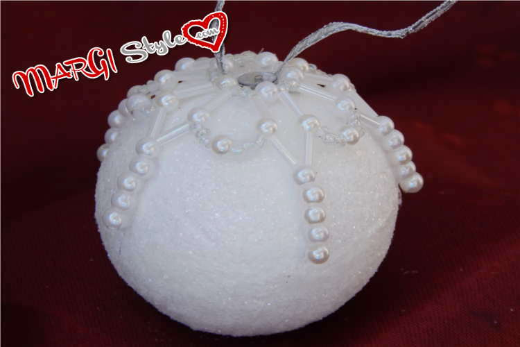 Favoloso Come decorare sfere di polistirolo con perle MarGistyle GS62