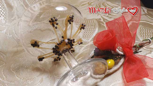 Bicchiere decorato a mano