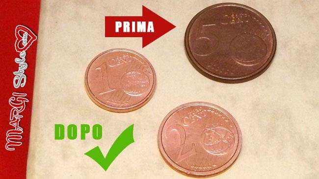 Due metodi per pulire le monete