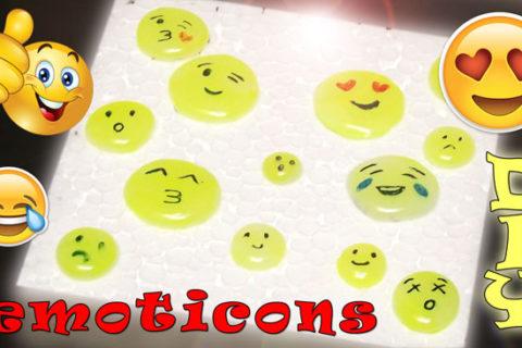 Emoticons con colla a caldo