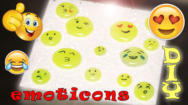 Emoticons con colla a caldo