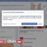 Programmare un post su Facebook