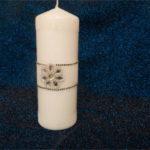 decorare candele natalizie eleganti